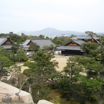 View from ramparts onto Nijo grounds