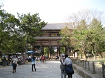 Approaching my first Nara era temple complex