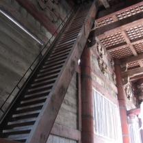 The stairs give you an indication of the size of the temple...and of the Buddha statue