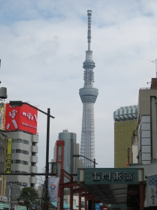 View of Tokyo Sky Tree from Asakusa