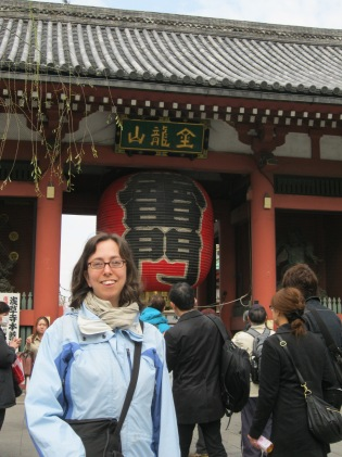 Me in front of the gate