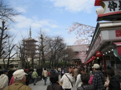 Approaching Sensoji Temple