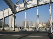 View of Tokyo from bridge