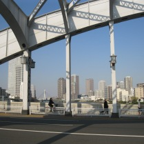 View of Tokyo from bridge