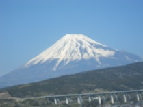 Blurred because of the speed of the train, but yes, I can see its slopes quite nicely!