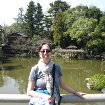 Me by the pond in the Imperial Gardens, Kyoto