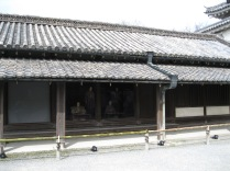Nijo Palace guard station with manequins dressed as shogunate guards