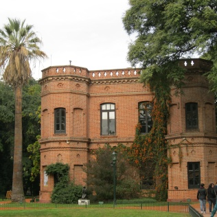The main building in the Botanical Gardens
