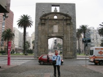 At the gate to the old city, Plaza Independencia, Montevideo