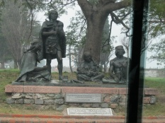 Monument to the native people's of Uruguay