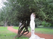Sculptures were throughout the Botanical Gardens