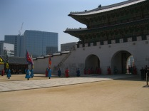 The main gate to Gyeongbokgung
