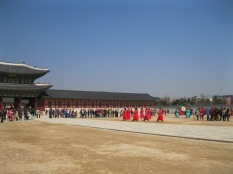 A different viewpoint - changing of the guard, Gyeongbok Palace