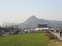 Looking back at the entrance to Gyeongbokgung