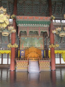 The throne in Cheangdeokgung