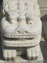 Close up of a palace guardian