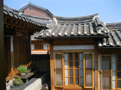 Inner courtyard view of the hanok