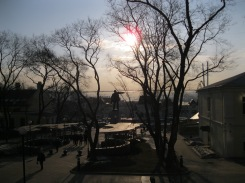 View of Lenin Square and the Russian Golden Horn on my way to the hotel