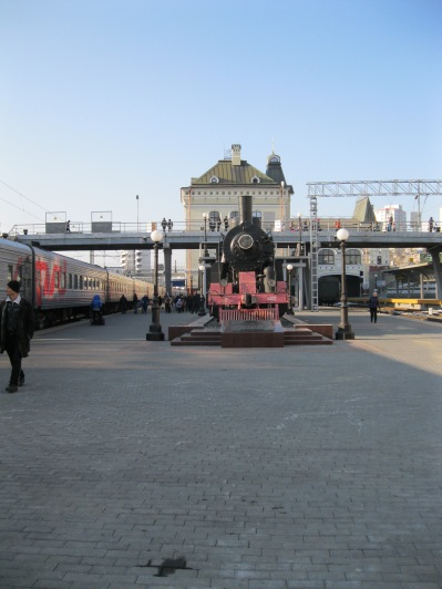 Historic train at Vladivostock station