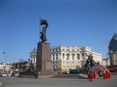 A central square in Vladivostock