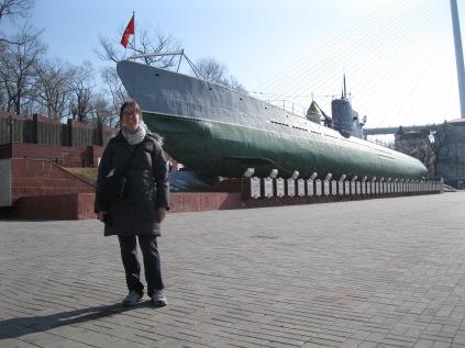 An old Soviet submarine