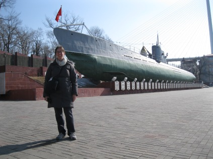 An old Soviet submarine