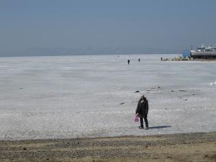 The frozen Sea of Japan