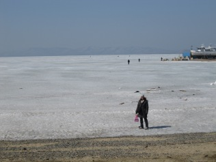 The frozen Sea of Japan