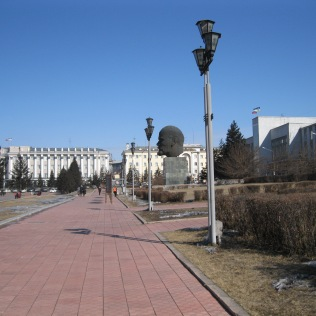 First sight of Sovetov Square