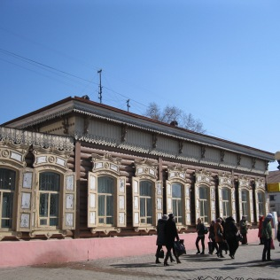 Old wooden house in Ulan Ude