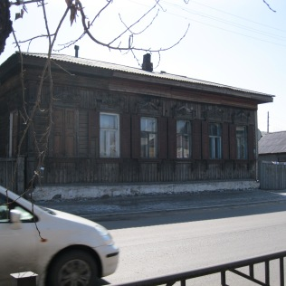 The older part of town: plenty of wooden houses