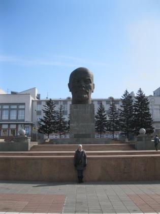 World's largest Lenin head dwarfs me