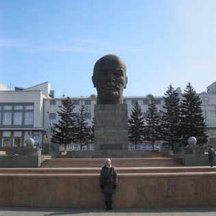 World's largest Lenin head dwarfs me