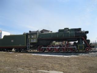 Side view, Soviet train