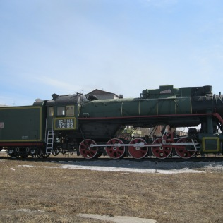 Side view, Soviet train