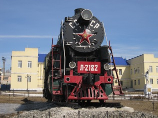 Old Soviet train near the Ulan Ude train station