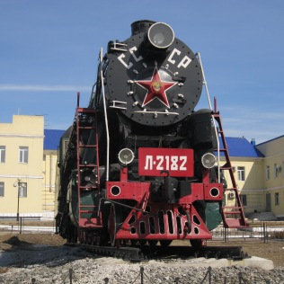 Old Soviet train near the Ulan Ude train station