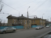One of the old wooden houses