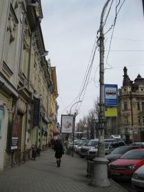 On a big street
