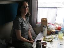 In my train compartment