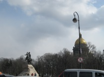 A first view of the Bronze Horseman of Pushkin fame