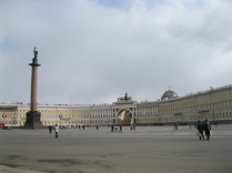In front of the Winter Palace (which was at my back left)