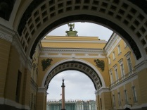 Looking back to the Winter Palace