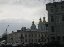 Gold and pastel colors, the colors of St Petersburg's historic district