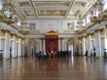 The large throne room - the tourists show the scale