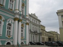 Looking at the different wings: Winter Palace, New Hermitage, Old Hermitage