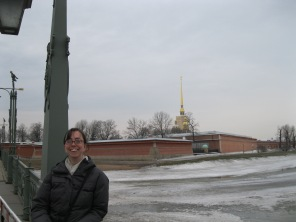 Me in front of the Peter and Paul Fortress