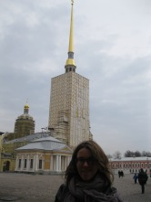 My friend in front of the Peter and Paul Cathedral