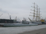 Submarine museum and the sailing ship the Mir