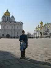 View of me with Kremlin churches